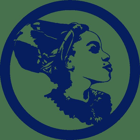 DeeVah Icon B – Blk-Ink Studio – Pantone 2757 C