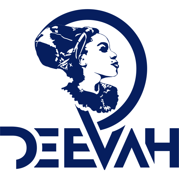 DeeVah Logo – Blk-Ink Studio – Pantone 2757 C
