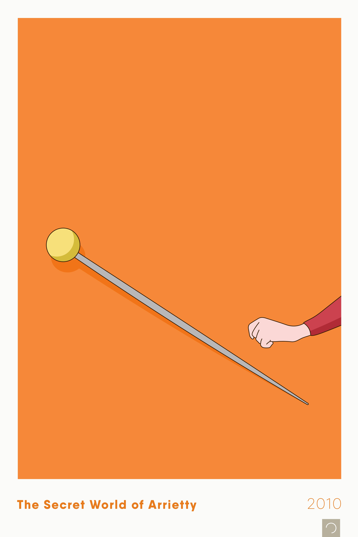Studio Ghibli – Ontwerp Movie Posters Series – 14 – The Secret World of Arrietty