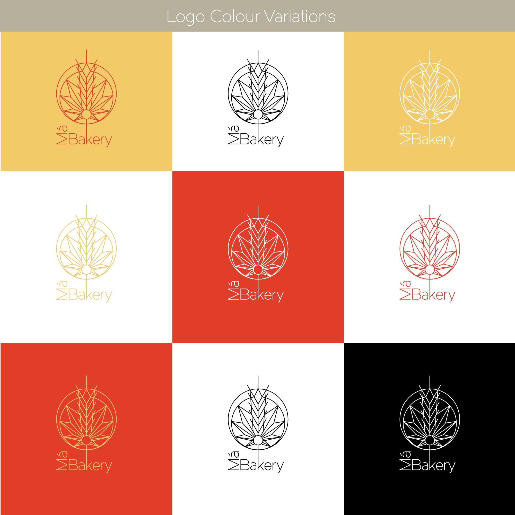 Má Bakery Logo Colour Variations