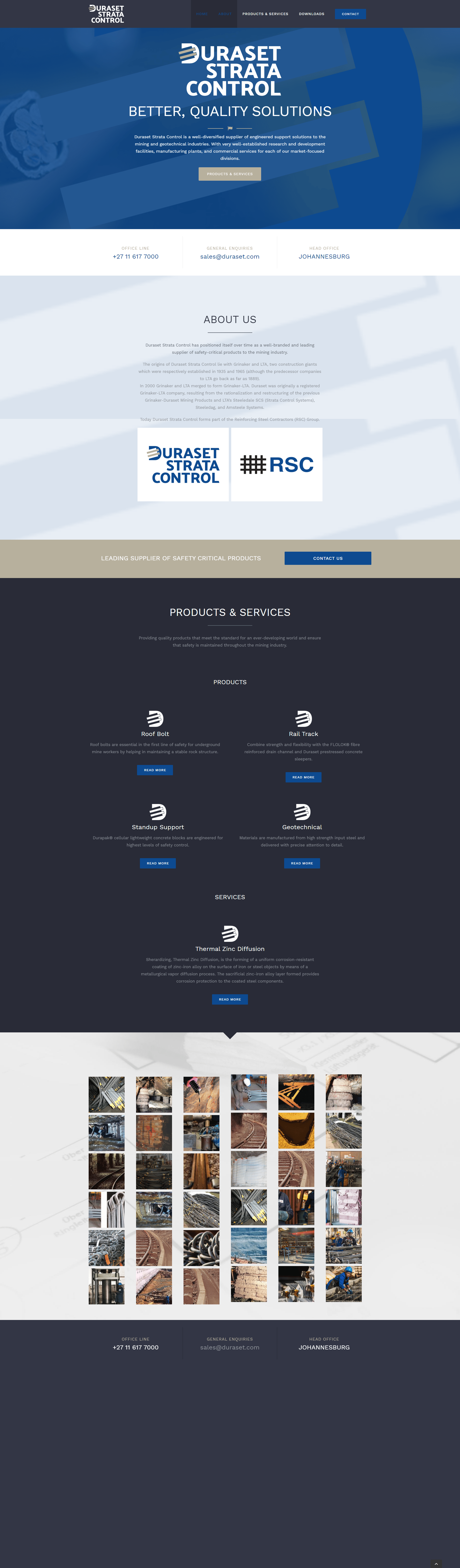 Duraset Home Page