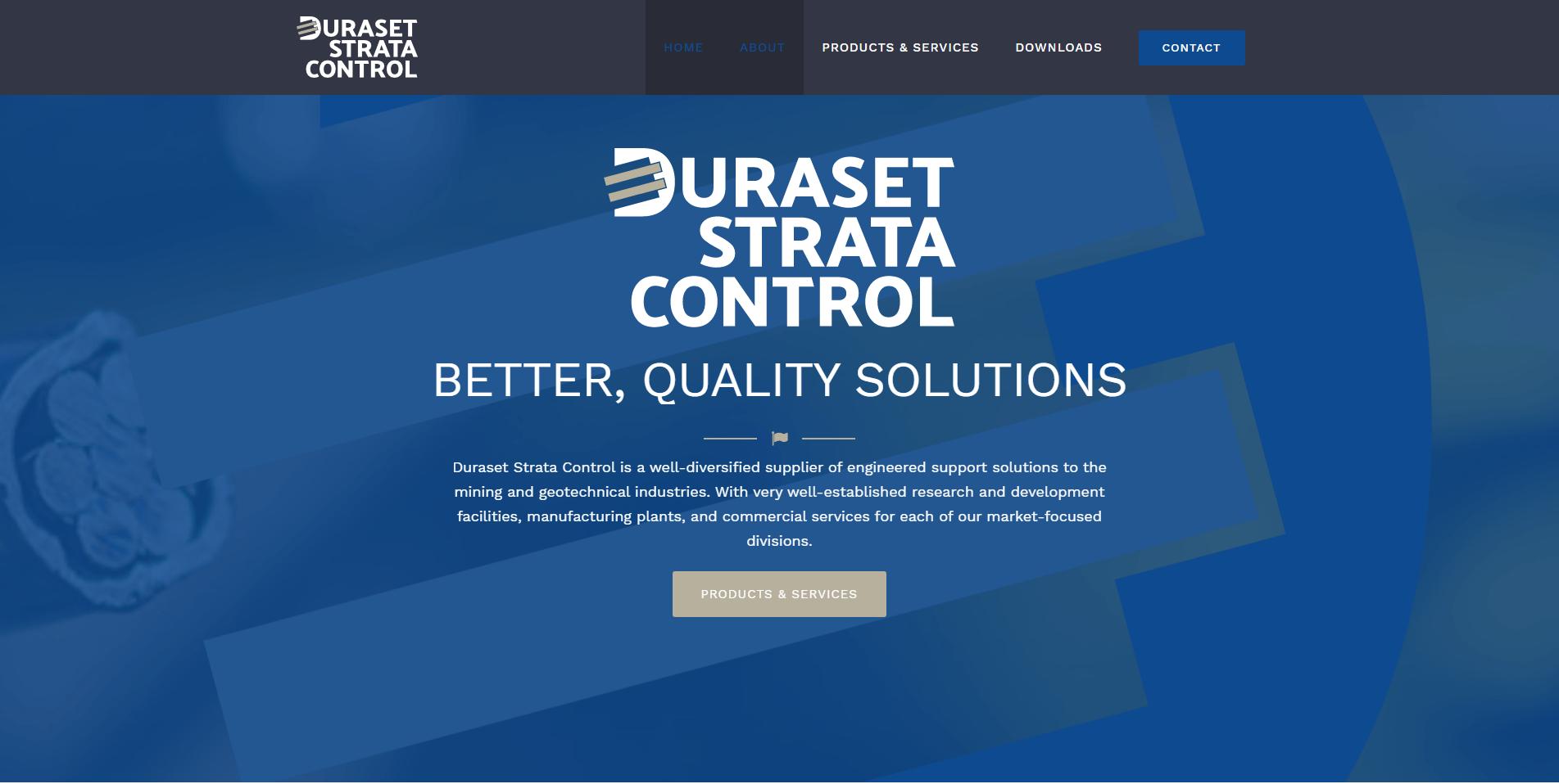 Duraset Landing Page