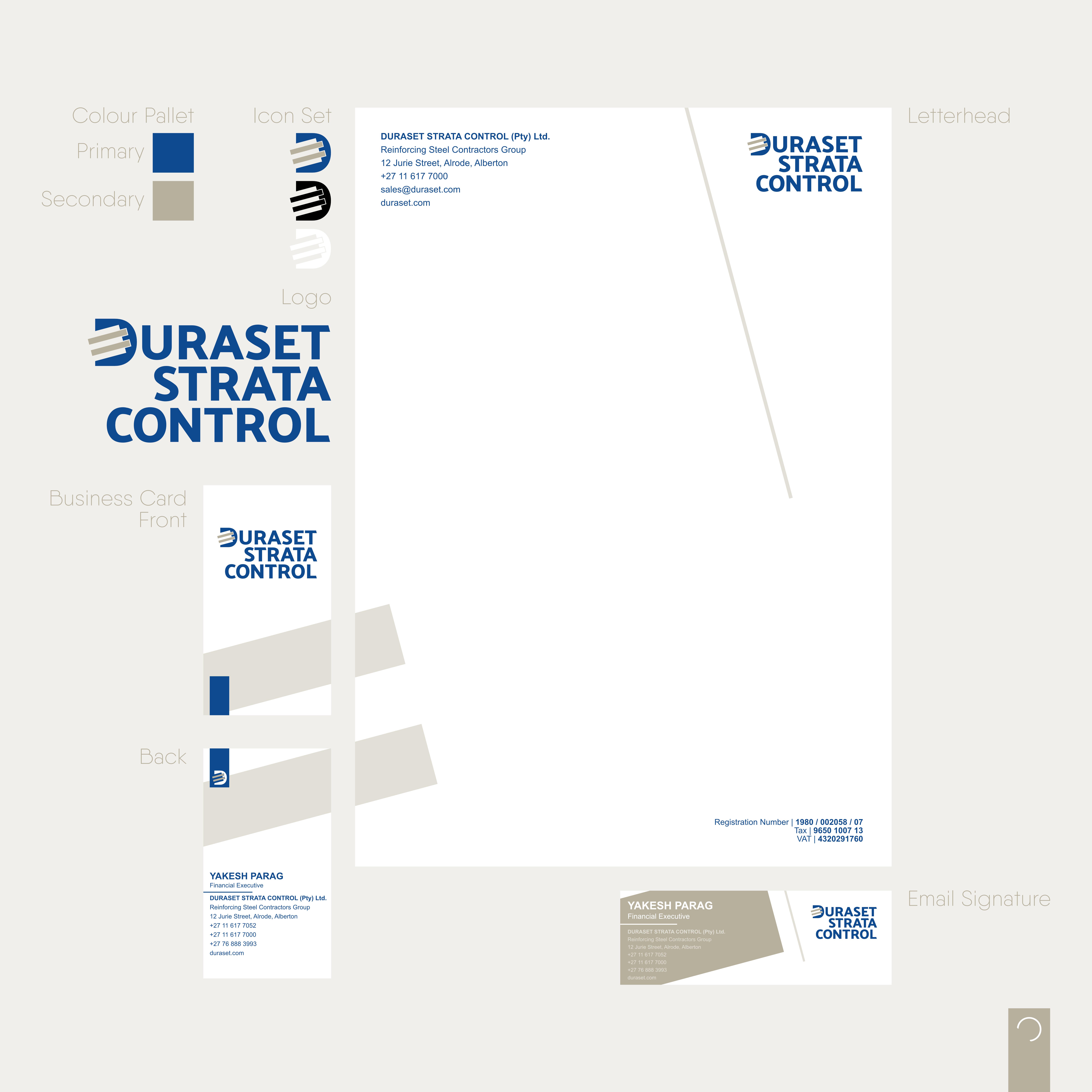 Duraset Strata Control – Corporate Identaty