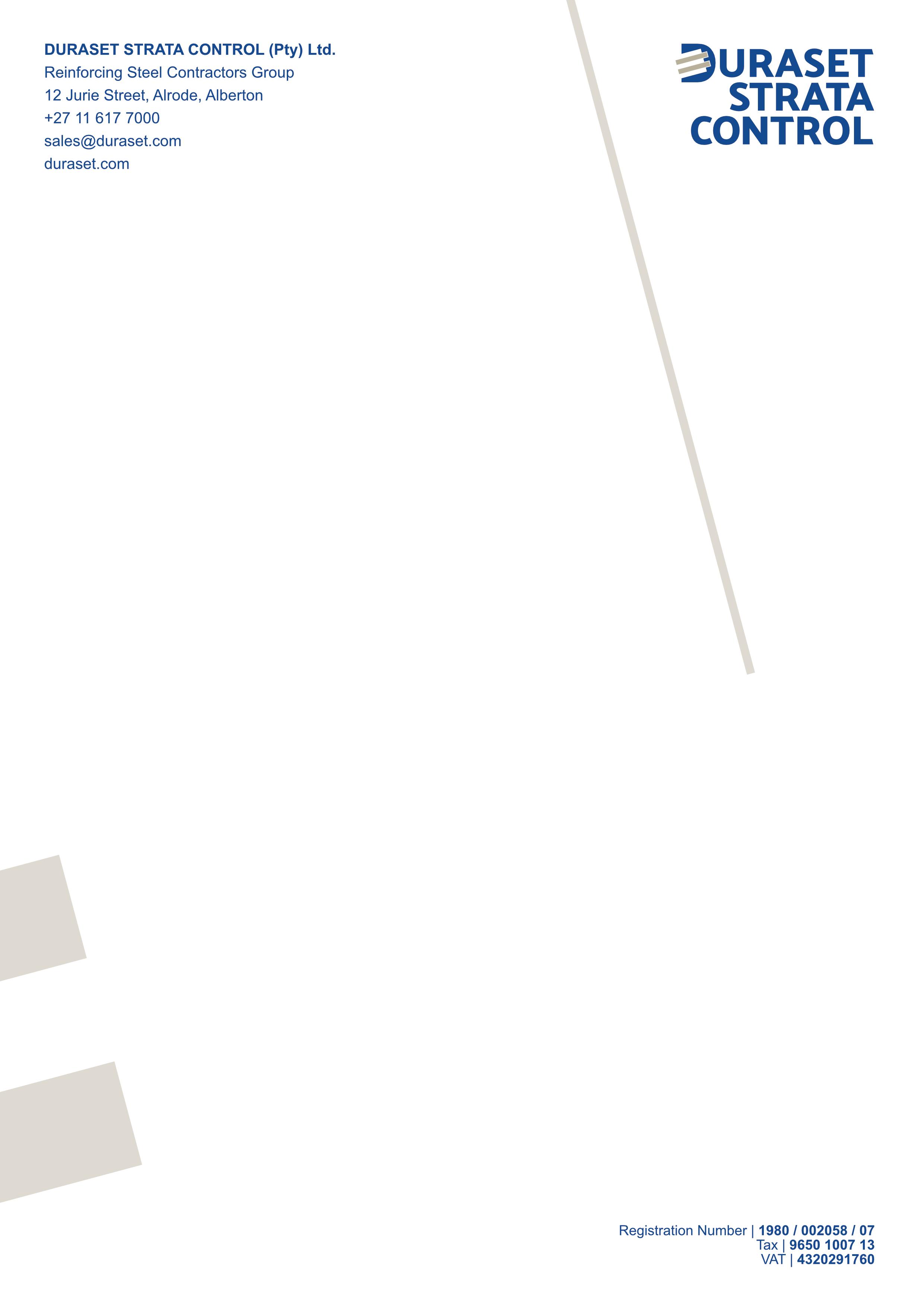 Duraset Strata Control – Letterhead – A4