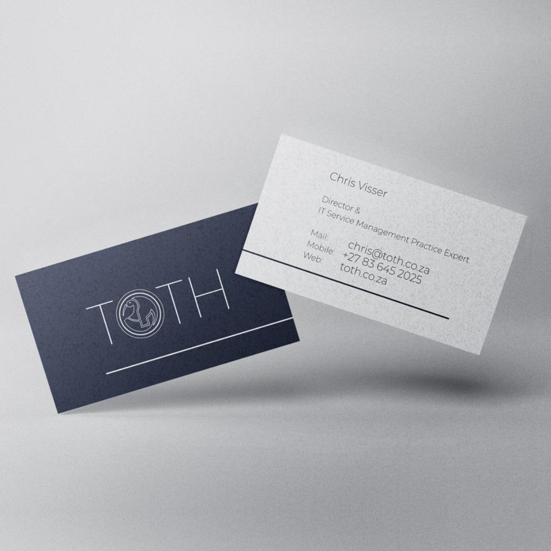 Toth Business Card – Mockup – ontwerp