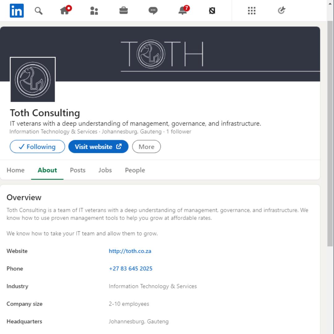 Toth LinkedIn – Mockup – ontwerp