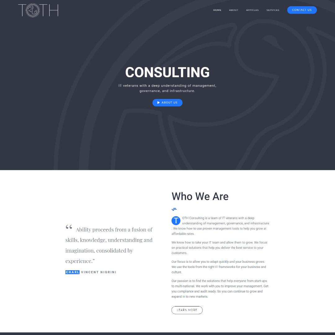 Toth Website – Mockup – ontwerp