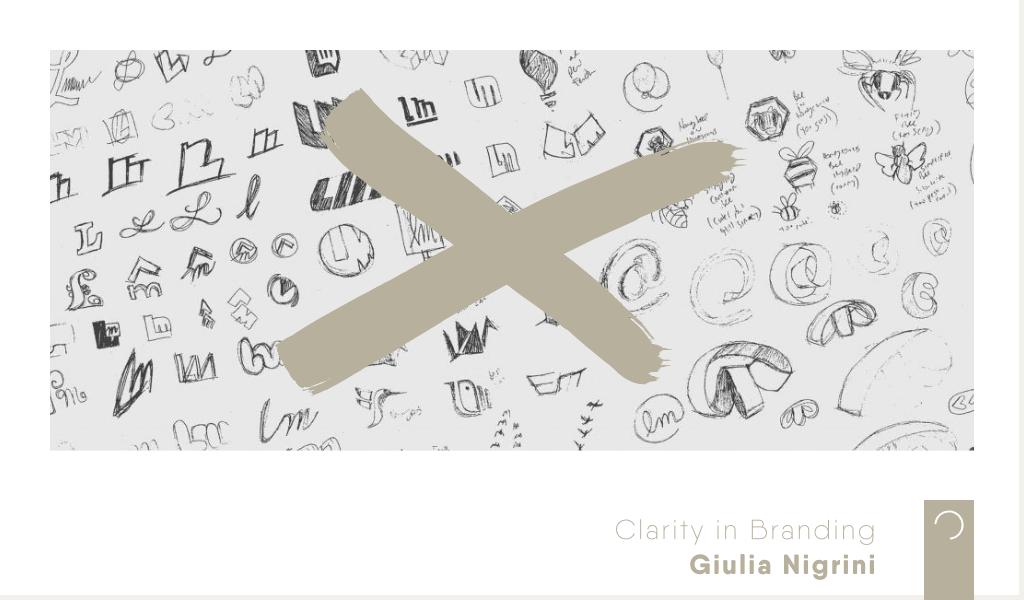 Clarity in Branding - ontwerp - Giulia Nigrini